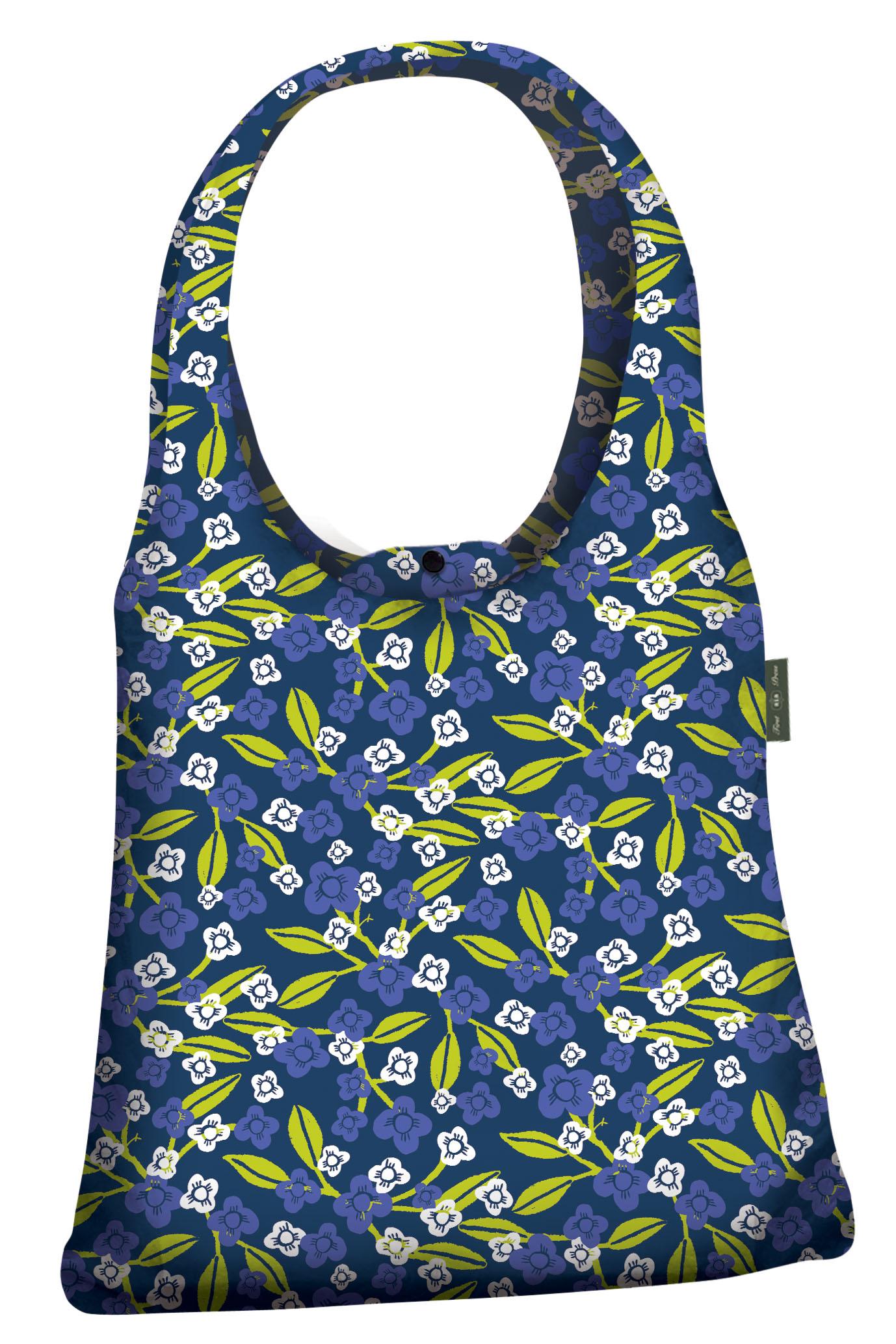744e9cd8c9d Roger la Borde Fabric Shoulder Bag - Dark Blue print