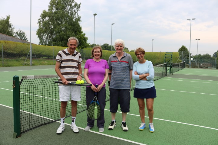 The winners of the Tennis for Treloar's event