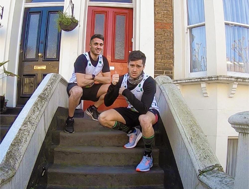 London Marathon twins Kieran and Ashley