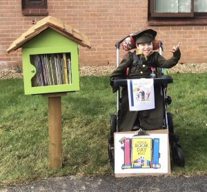 Dexter celebrates World Book Day in the forest library
