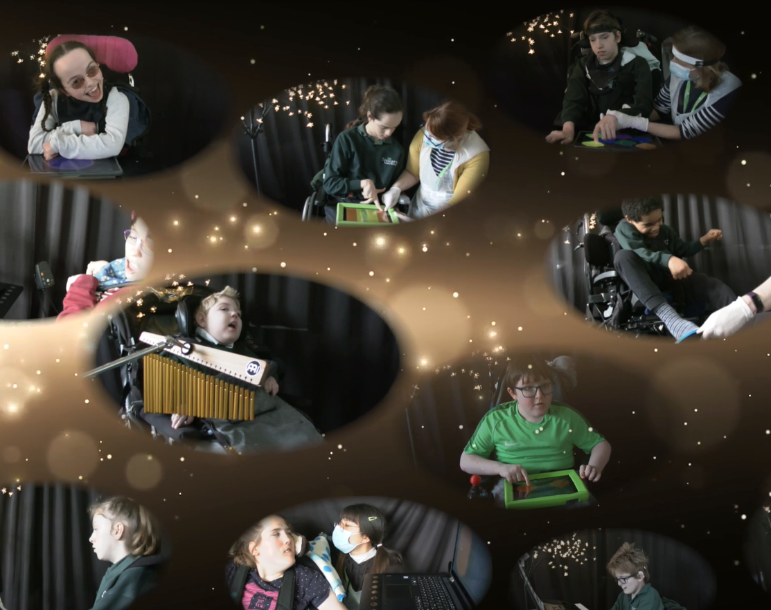 Students pictured performing Mahler's symphony