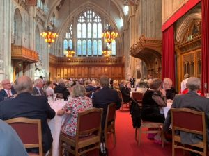 Cartmarking lunch in Guild Hall, London